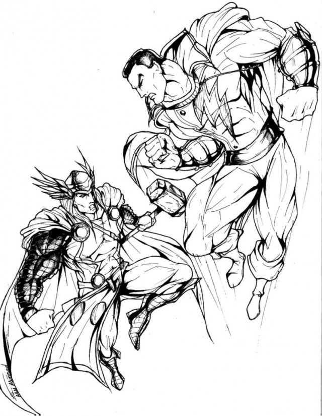 marvel super heroes coloring pages - photo#38