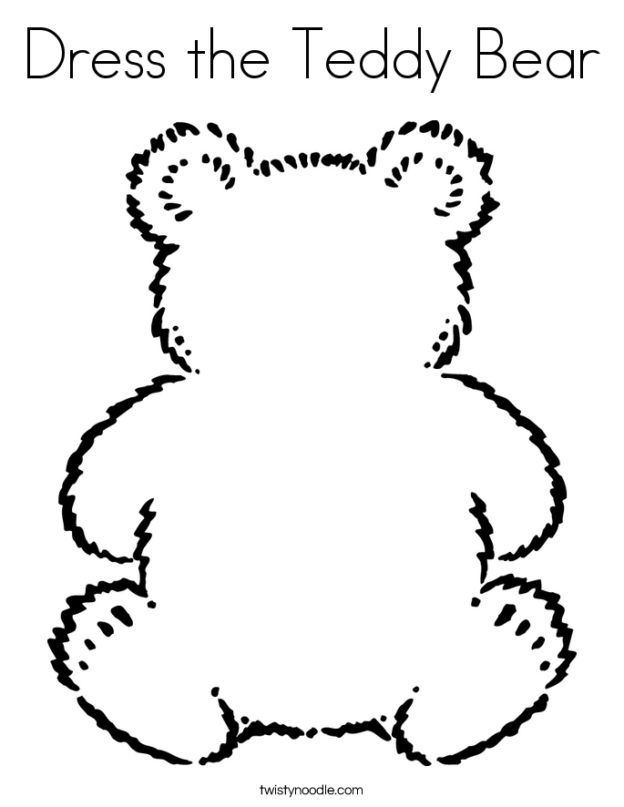 Cute Teddy Bear Coloring Pages