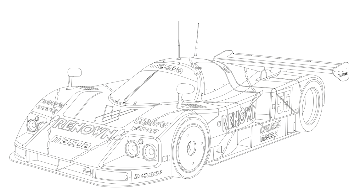 Indy car coloring pages coloring home for Rally car coloring pages