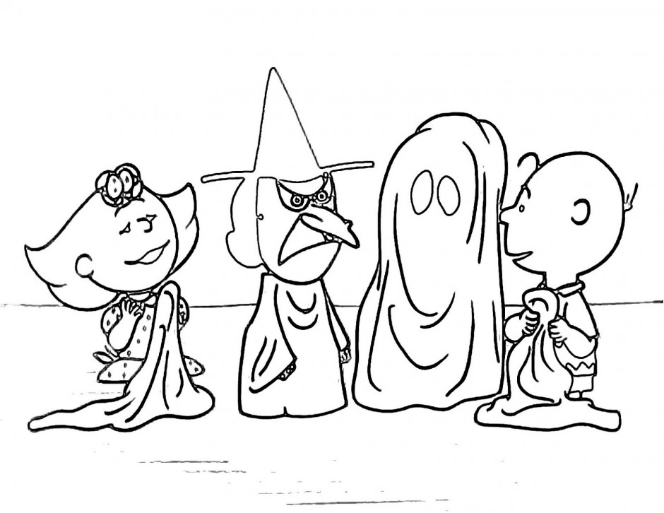 Charlie brown thanksgiving coloring pages az coloring pages for Charlie brown halloween coloring pages