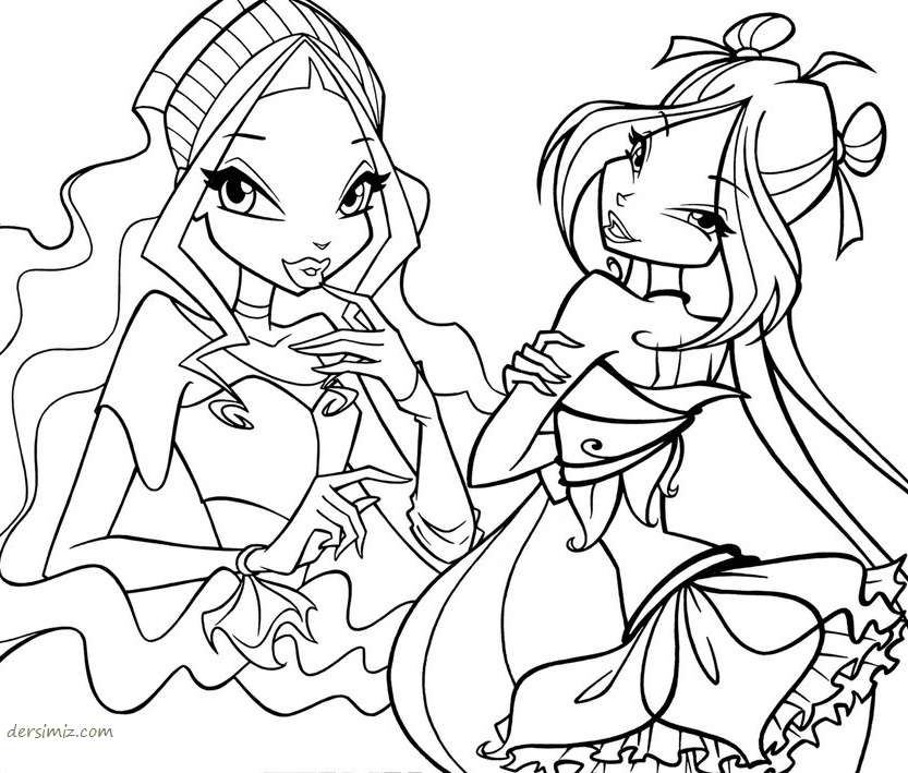 Winx Boyamalar Coloring Pages For Kids Free Coloring Pages