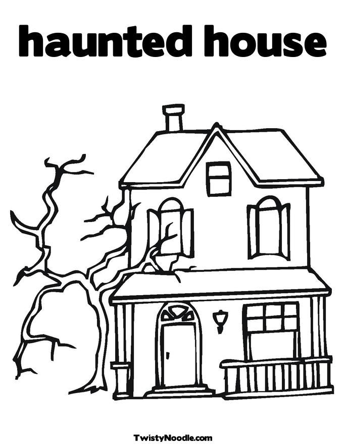 Halloween Coloring Pages Haunted House