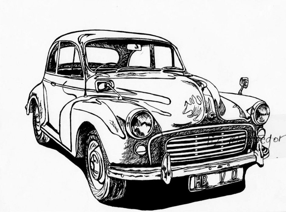 pin old car coloring - photo #12
