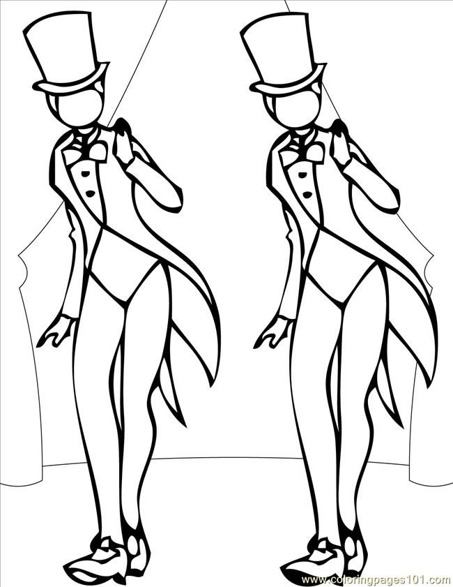 ballroom dancer coloring pages - photo#20