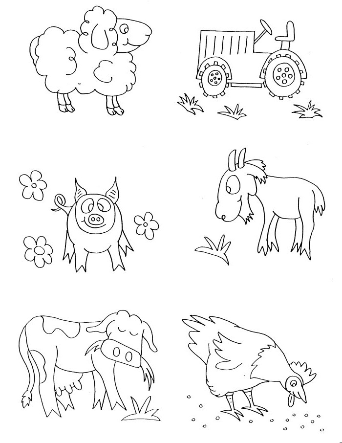 farm coloring pages for preschoolers - photo#8