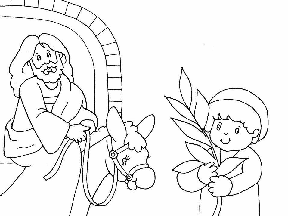 palm sunday coloring pages printable - photo#9