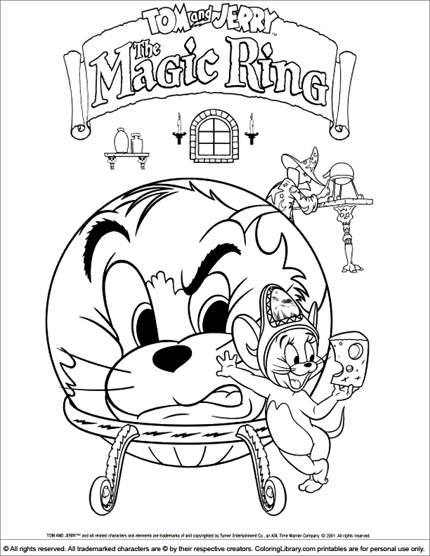 tom n jerry coloring pages - photo#19