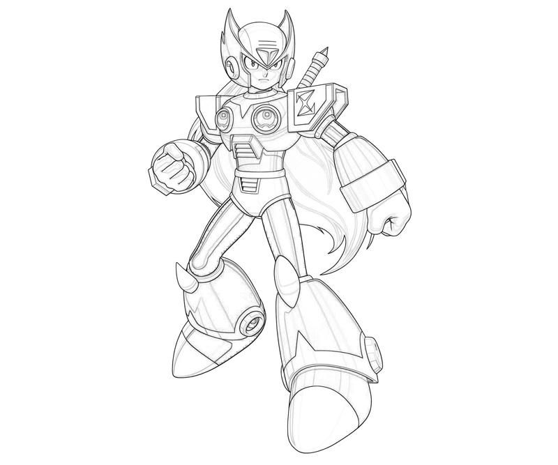 mega man coloring pages free - photo#15