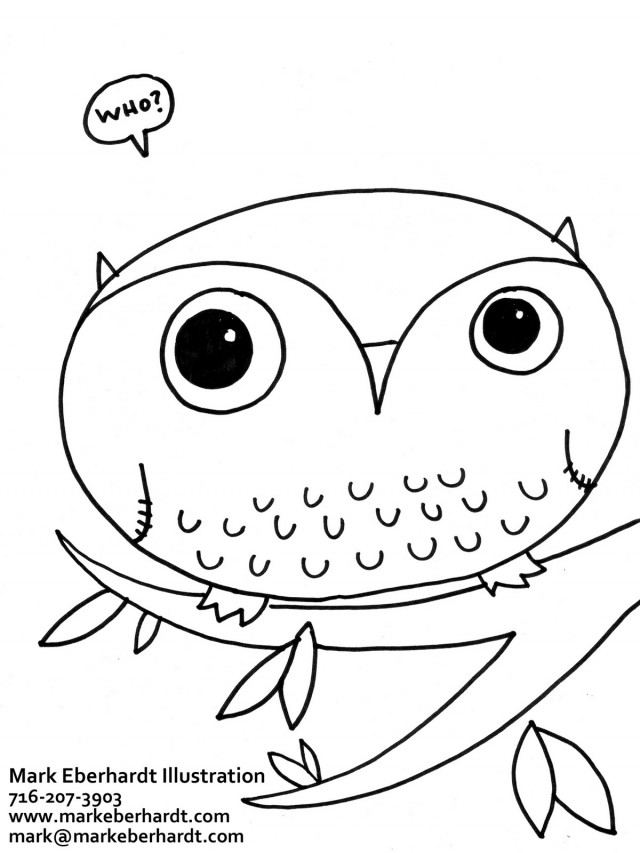coloring pages of barn owls - photo#33