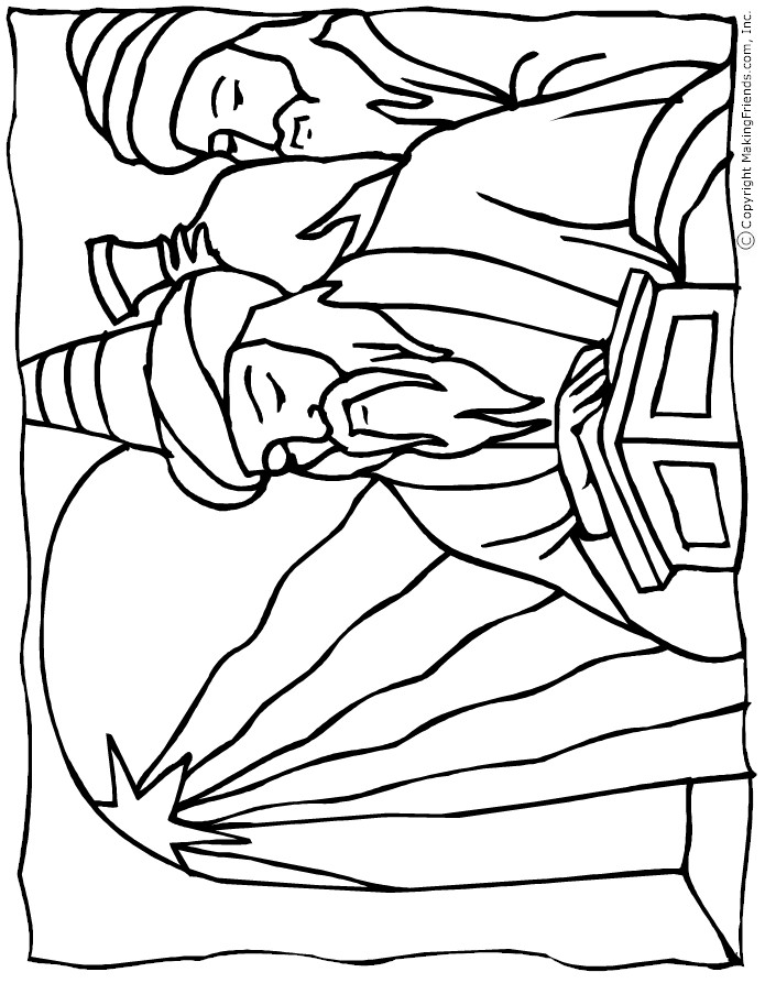 Wisemen Coloring Page