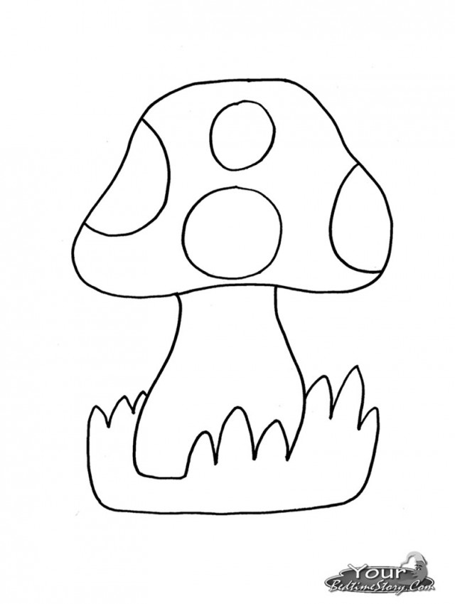 coloring pages mushrooms - photo#7
