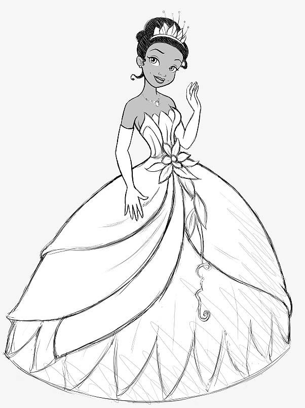 Disney Princess and the Frog Coloring Pages | Disney Coloring Pages