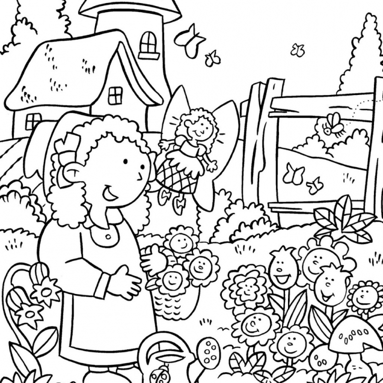 Daisy Flower Coloring Page Az Coloring Pages Scout Flower Garden Coloring Pages Free