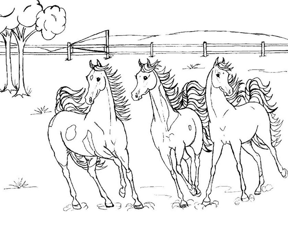 Christmas Horse Coloring Pages