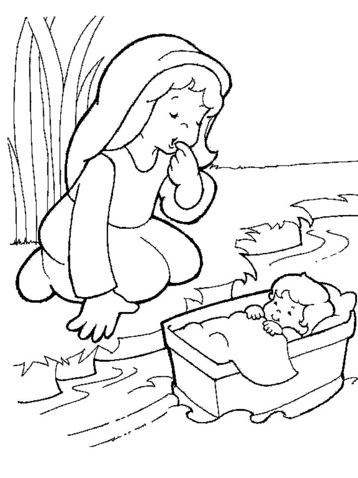 Moses Coloring Sheet Coloring Home
