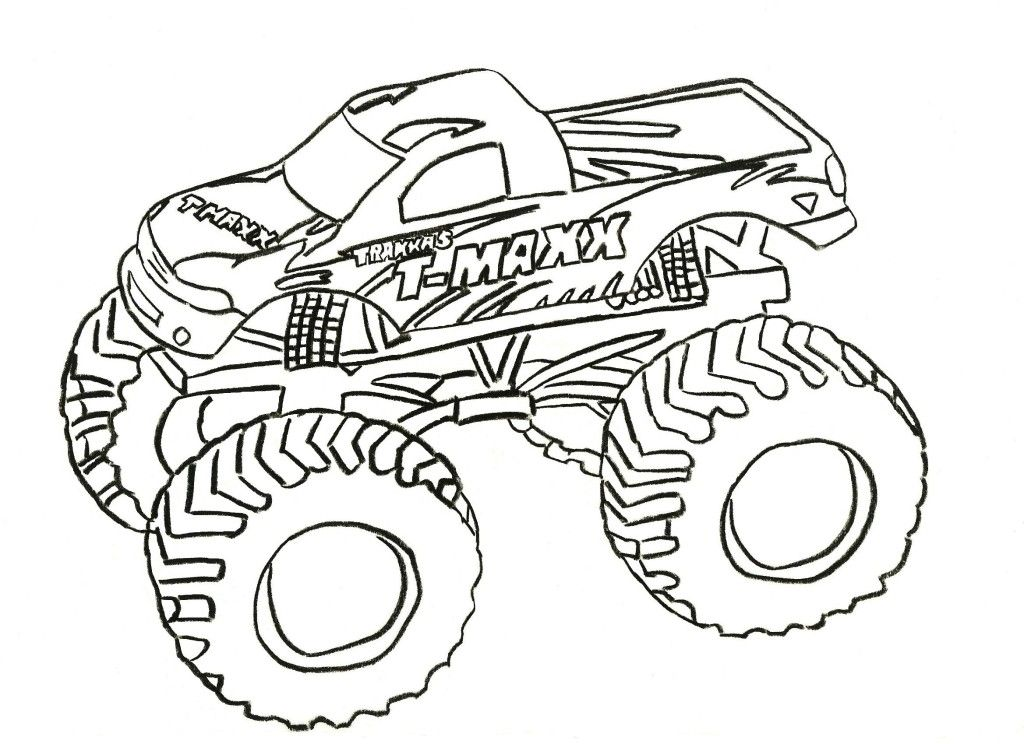 Monster Truck Coloring Pages - Free Coloring Pages For KidsFree