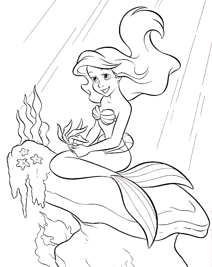 Princess Ariel Coloring Pages - Coloring Home