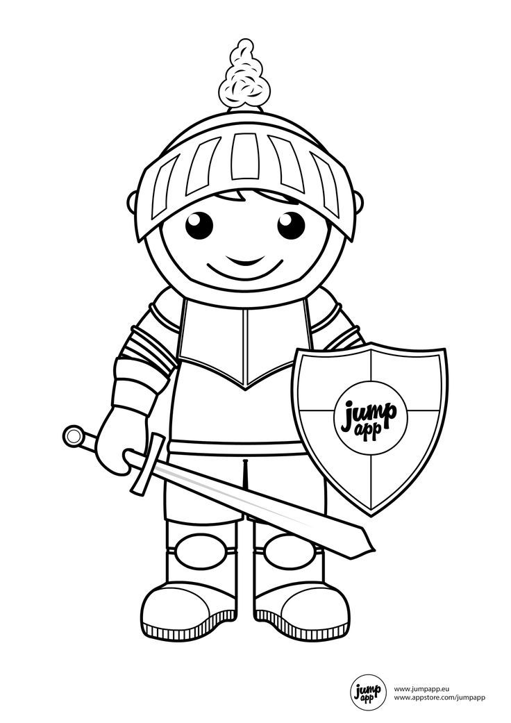 knight coloring pages for kids - photo#2