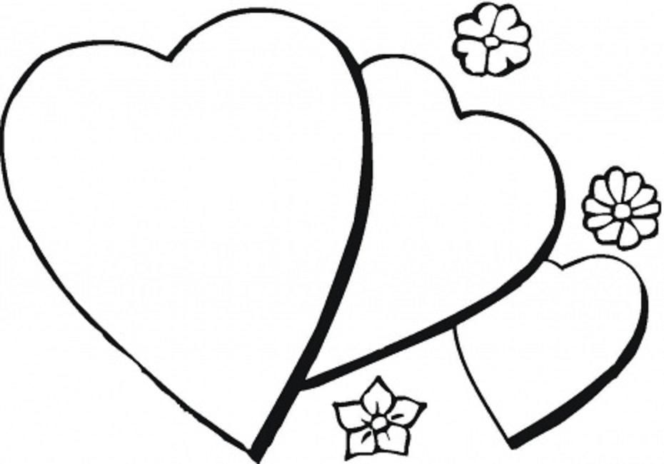Picture Of A Heart To Color