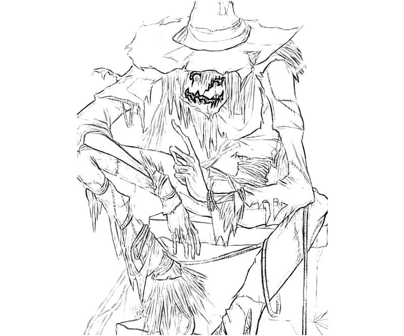 Printable Scarecrow Coloring Pages