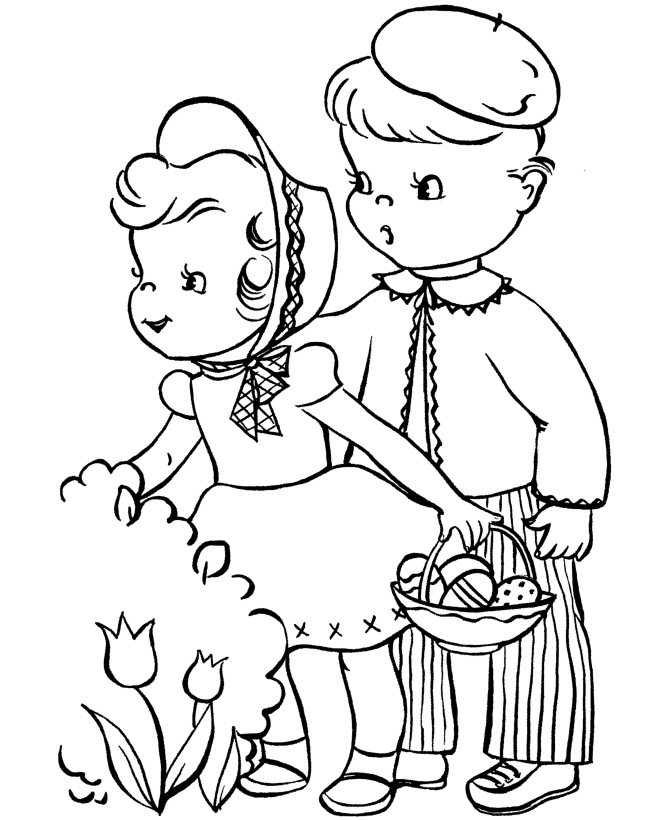 Preschool easter coloring pages az coloring pages for Preschool spring coloring pages