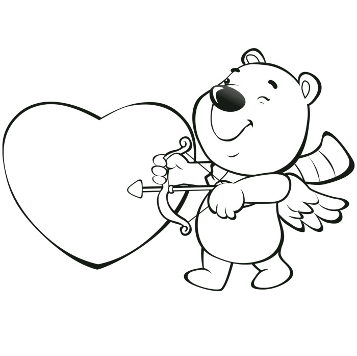 cartoon valentines day coloring pages-#9