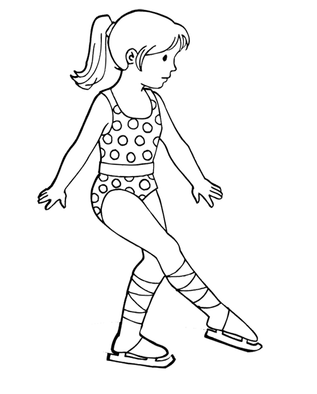 coloring pages of ice skaters - photo#16