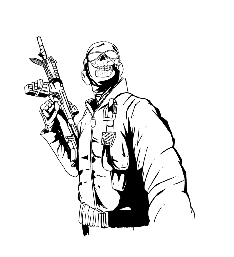 Call of duty black ops coloring pages coloring home - Coloriage zombie ...