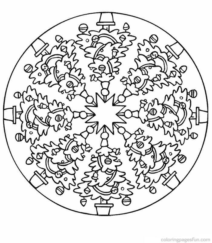 christmas mandala coloring pages - photo#3