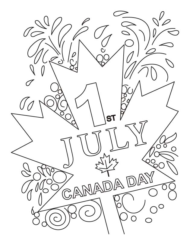 Canada Day Free Coloring Pages 2014, Coloring Sheets for Kids