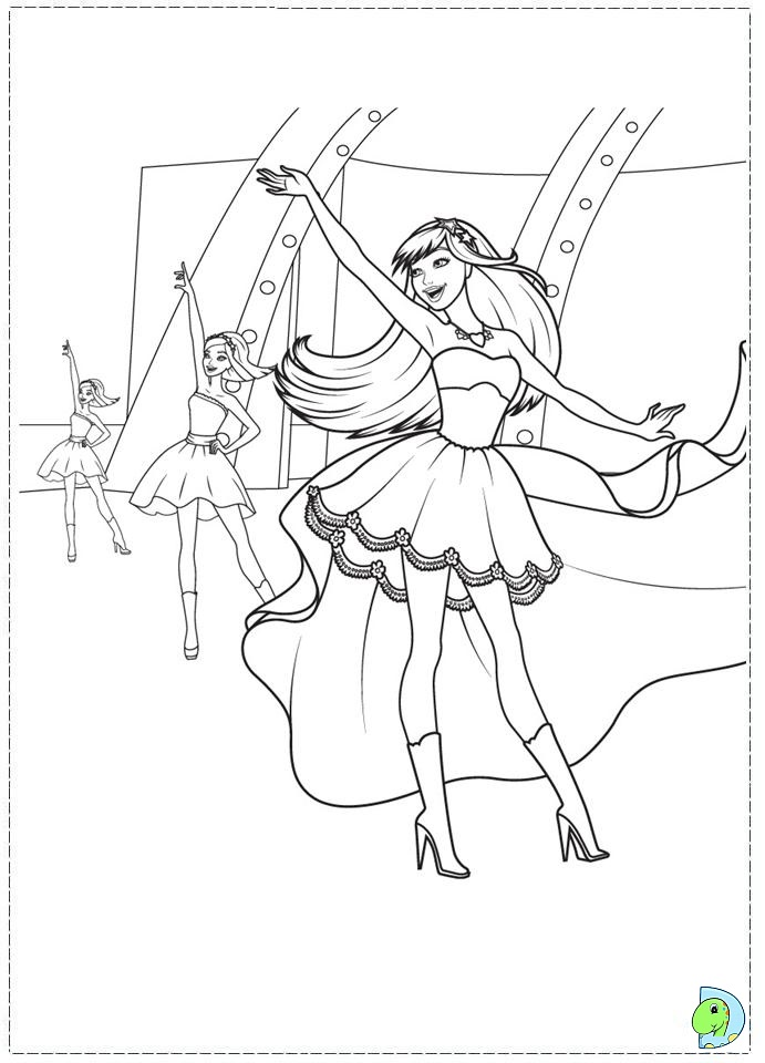 barbie princess and the popstar coloring pages printable - barbie princess coloring pages az coloring pages