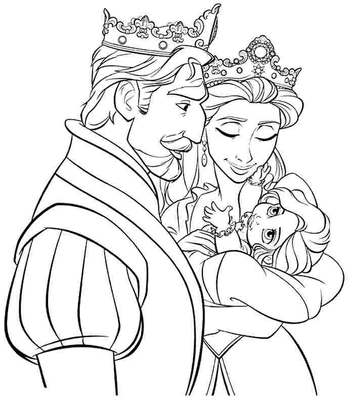 rapunzel printables az coloring pages