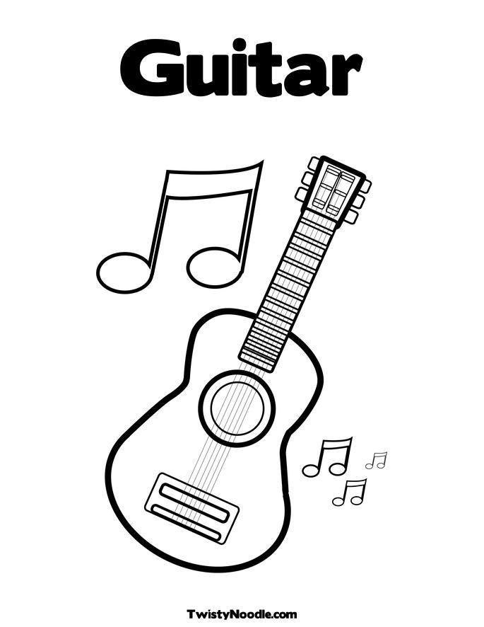 eletric guitar coloring pages - photo#29
