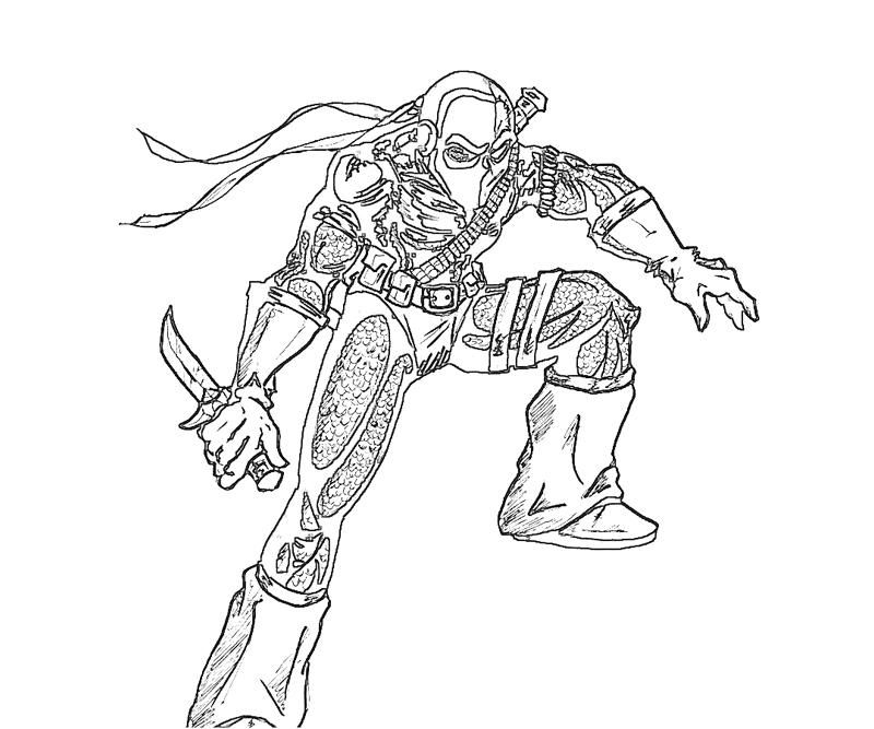 Dc universe deathstroke sword yumiko fujiwara coloring for Dc universe coloring pages