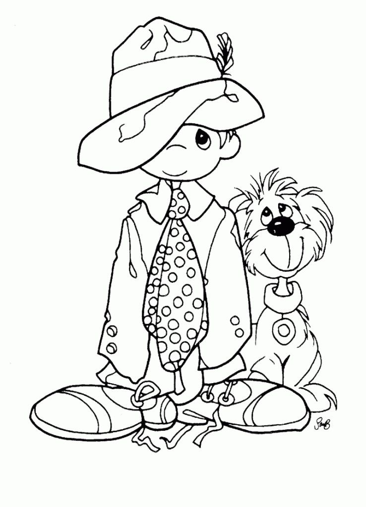 Precious Moments Coloring Book - HD Printable Coloring Pages - Coloring Home