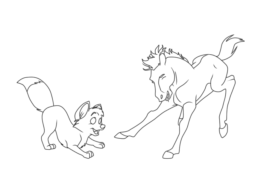 spirit foal coloring pages wwwimgkidcom the image