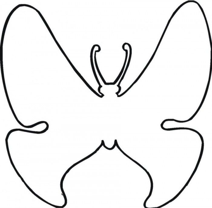 Preschool butterfly coloring pages coloring home for Butterfly coloring pages for kindergarten