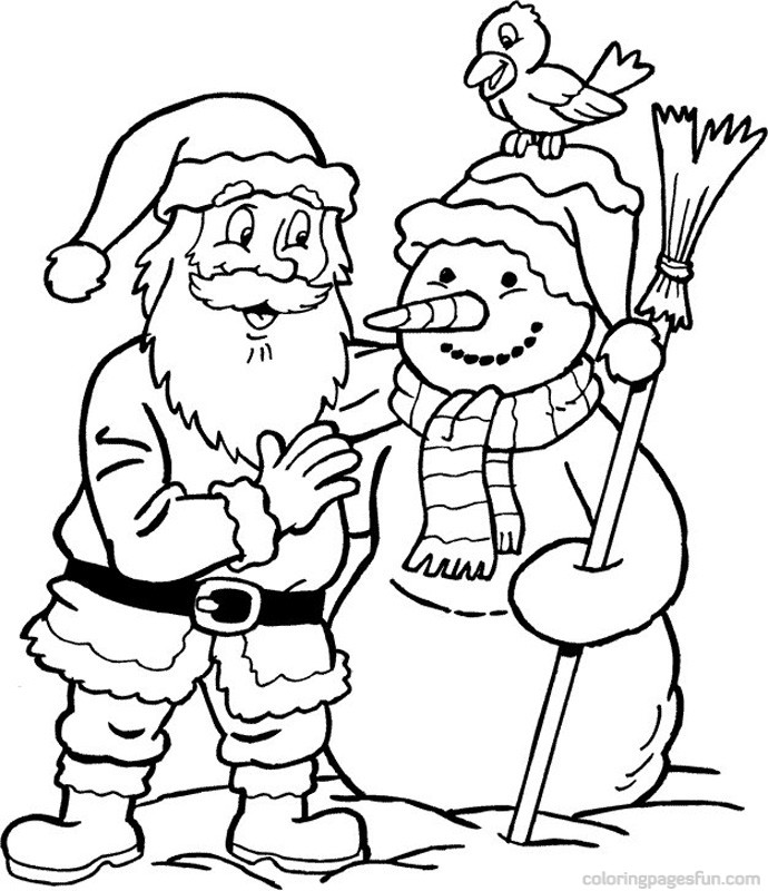 santa claus coloring pages online - photo#8