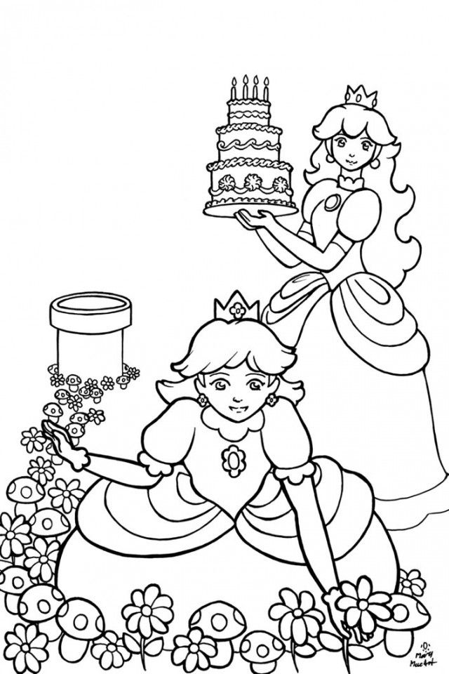 Cute Girly Coloring Pages