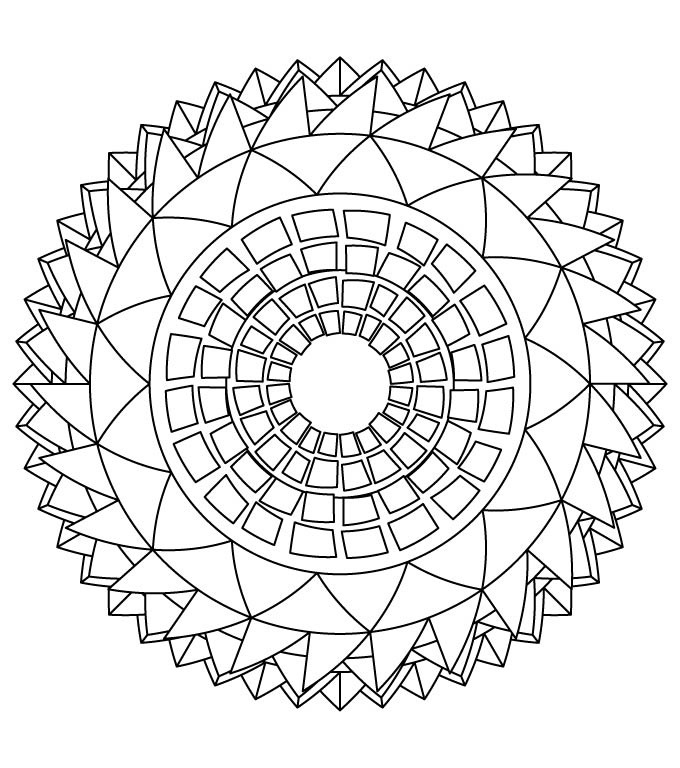 Free Difficult Mandala Coloring Pages Difficult Mandala Coloring Pages