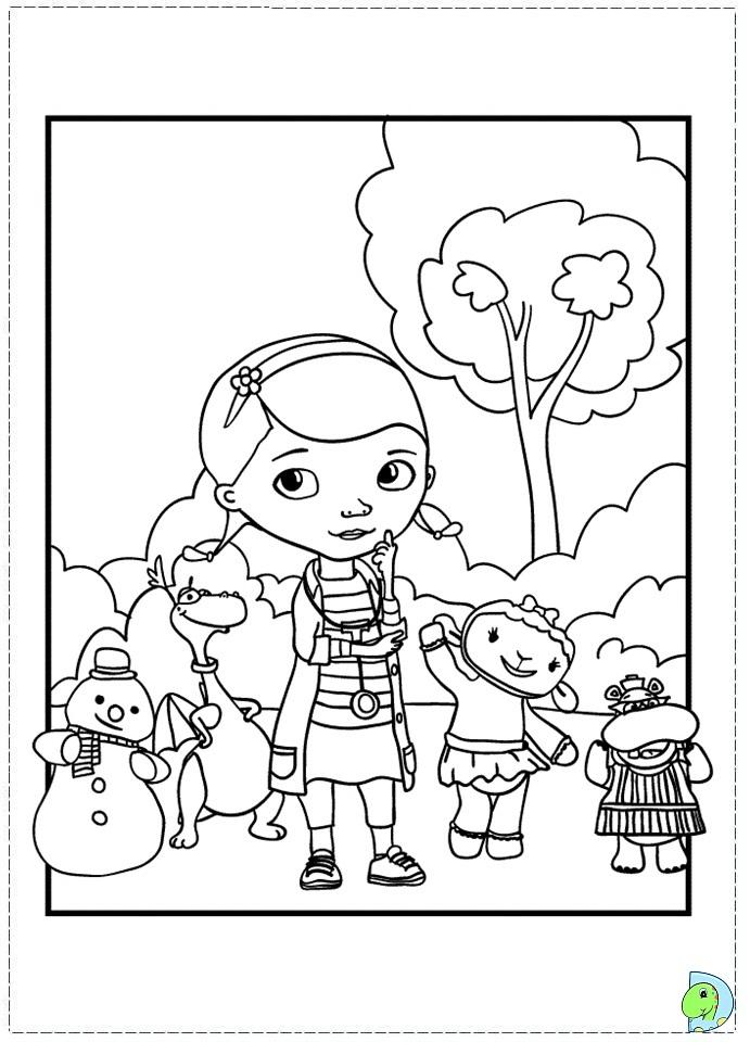 Doc mcstuffins pictures to print az coloring pages for Mcstuffins coloring pages