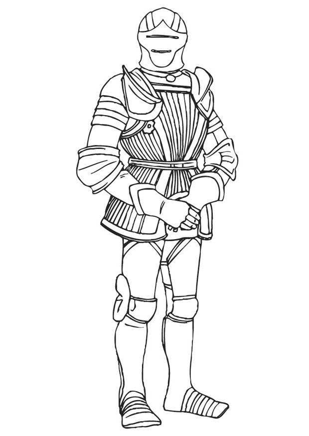 Medieval knights coloring pages coloring home - Dessin armure ...