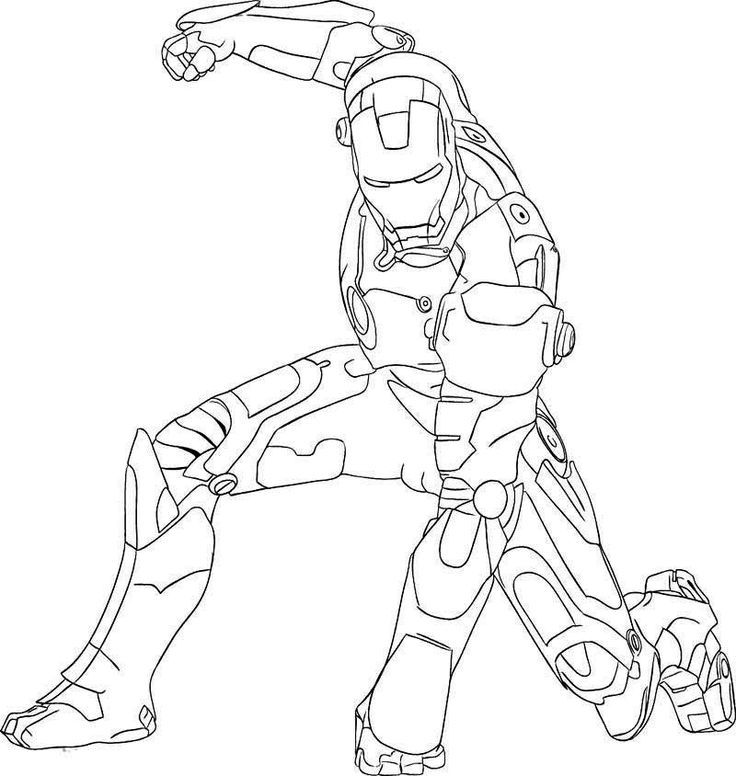 Ironman 2 Coloring Pages