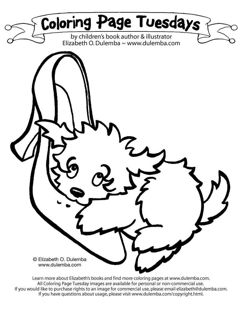 dulemba: Coloring Page Tuesday! - Chew a shoe