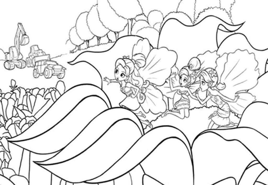 thumberlina coloring pages - photo#15