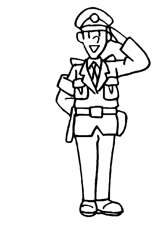 coloring pages of police officer - photo#6