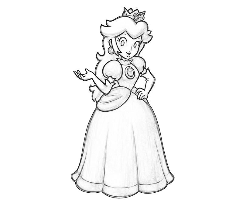 princess peach coloring pages Coloriage