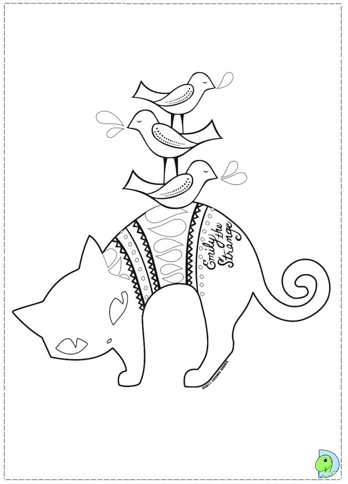 emily strange coloring pages - photo#6
