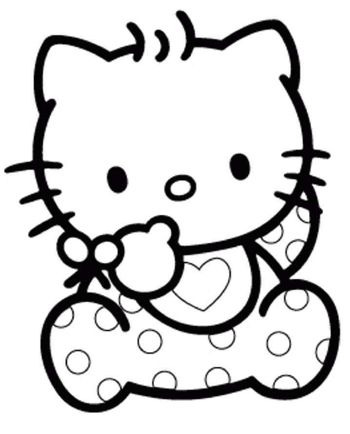Hello Kitty As A Mermaid Coloring Pages : Hello kitty mermaid coloring pages
