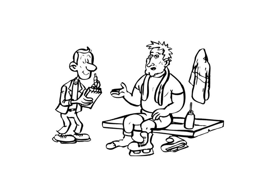 R Is For Ring Coloring Pages Coloring page ice skater with